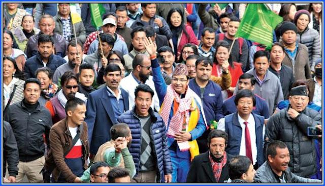 BJP candidate Raju Bista in Darjeeling