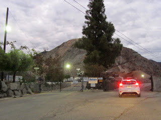 Front gate at Vulcan Materials and entrance to the Fish Canyon trailhead