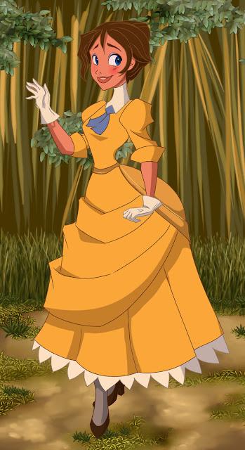 Filme Disney Tarzan, Jane vestido amarelo figurino