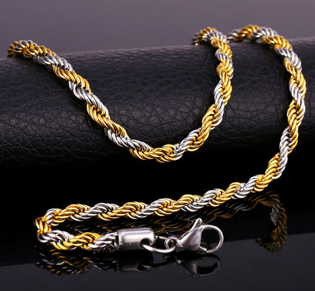 Two-Tone Gold Singapore Chain