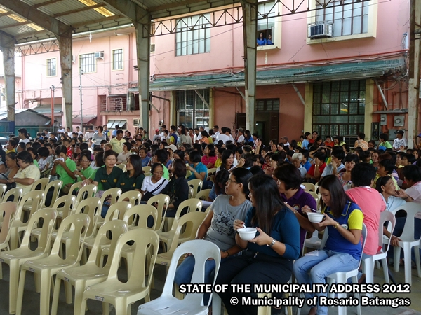 Municipality of Rosario Batangas: State of the Municipality Address by the Honorable Mayor