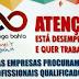 Cursos do Emprega Bahia começam neste sábado em São Gonçalo. As inscrições são gratuitas!