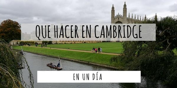 Que hacer en Cambridge en un día