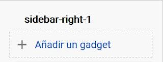 Añadir gadget Sidebar right 1