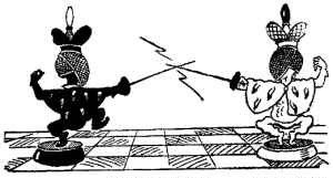 Fencing chess...