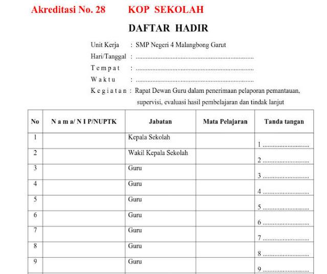 Bukti Fisik Akreditasi Instrumen No 28 Format doc