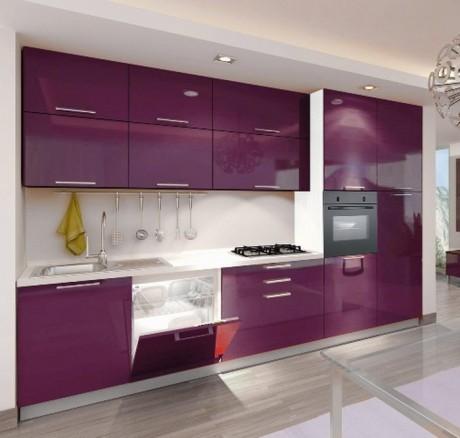Cocinas color violeta colores en casa for Cocinas color berenjena