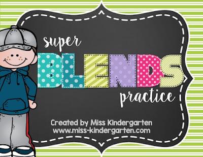 letter blends practice activities for Kindergaretn