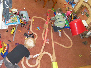 complicated train track