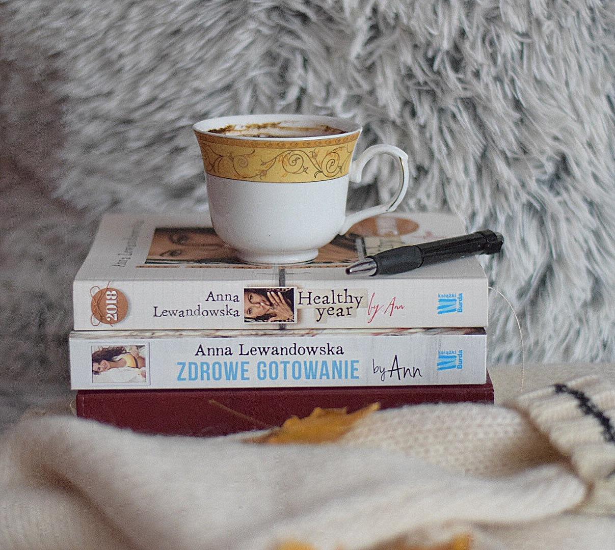 Książki Anny Lewandowskiej - Zdrowe gotowanie by Ann oraz Healthy Year by Ann