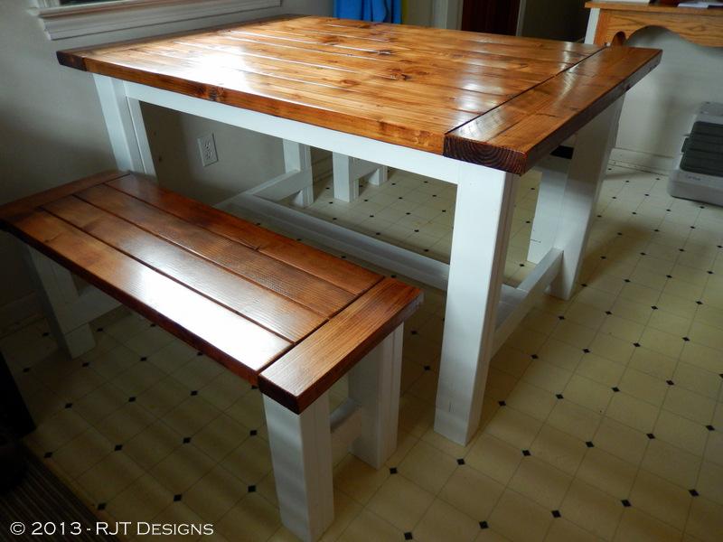 Free Farmhouse Table Plans: Bepa's Garden: Building A Farmhouse Table