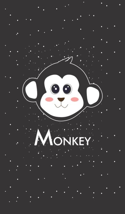 Simple Black Baby Monkey