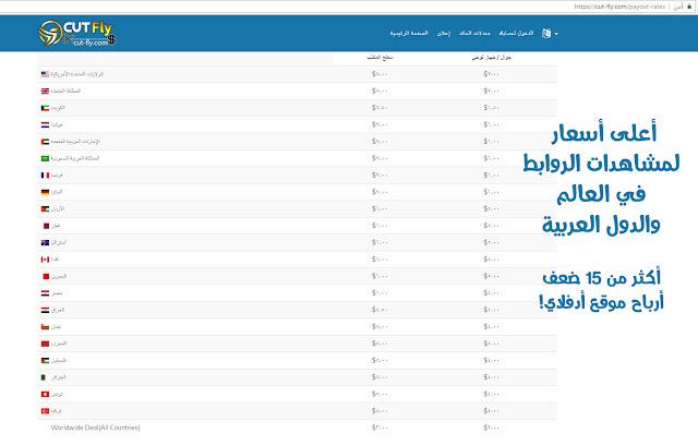 أعلى أسعار لمشاهدات الروابط المختصرة في العالم والدول العربية 15 ضعف أدفلاي