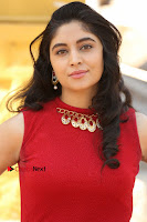 Telugu Actress Zahida Sam Latest Pos in Red Gown at RF Films New Movie Opening  0024.JPG