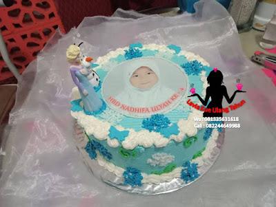 Kue Tart hias boneka ratu Elsa Frozen