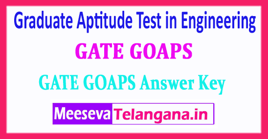 GATE Answer Key Graduate Aptitude Test in Engineering 2018 Download