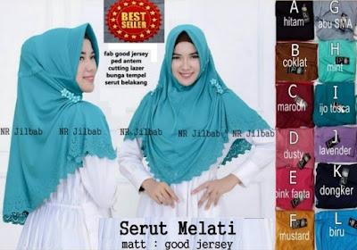 Jilbab Kerudung Hijab Khimar Serut Melati