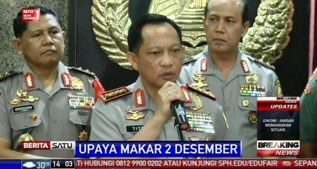 Breaking News: Pernyataan Lengkap Kapolri Soal Aksi 2 Desember dan Agenda Makar