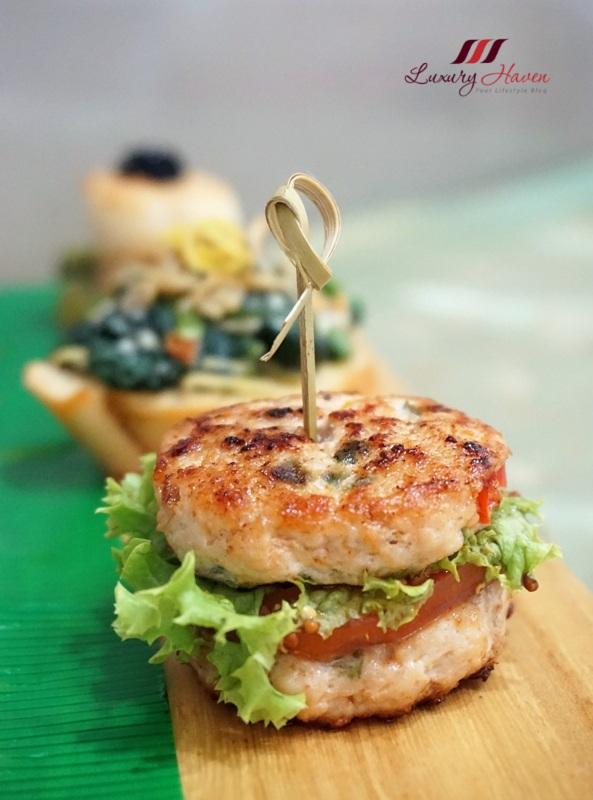 labo camelina oil healthy mini chicken burgers recipe