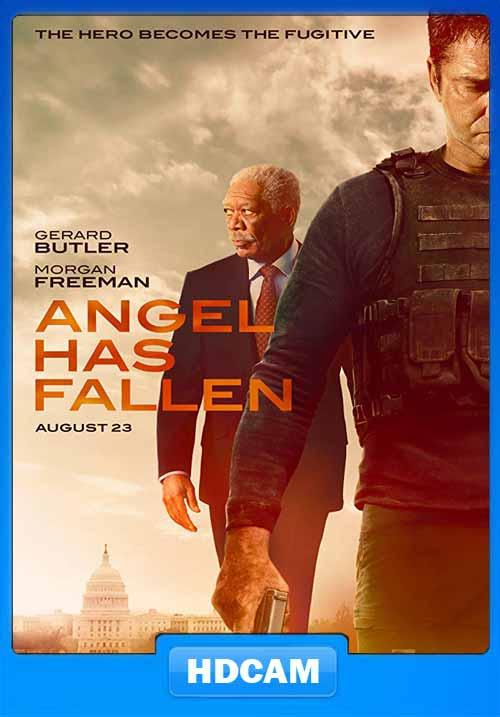 Angel Has Fallen 2019 English 720p HDCAM x264   480p 300MB   100MB HEVC