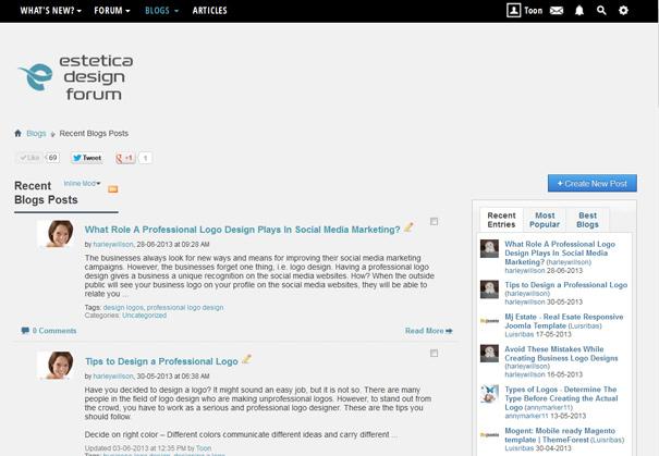 Forum Blog Section