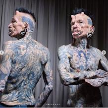 8 Potret Rolf Buchholz Manusia Bertanduk Dengan 516 Tindikan