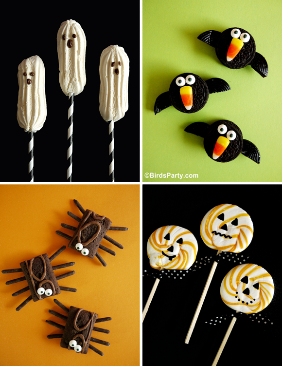 4 NO-BAKE Halloween Sweet Treat Recipes - BirdsParty.com