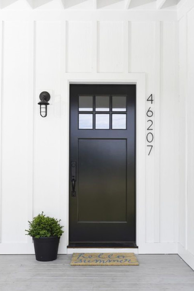 black front door, modern front entrance