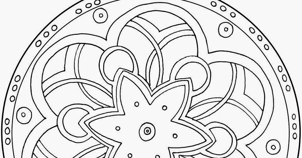 printable mandalas star hd coloring pages for adults. Black Bedroom Furniture Sets. Home Design Ideas