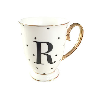 personalised cups, teacups, mugs, letter R - Bombay Duck