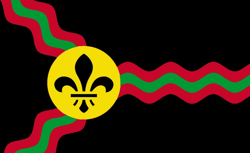 051ae3b597f The St. Louis African-American Pride takes the official flag of St. Louis  and changes it with Pan-African Colours.