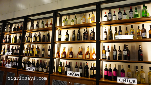 Farm to Table Iloilo restaurant - imported wines