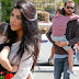 Photos of Kourtney Kadarshian and Scott as they take their kids out for roller skating