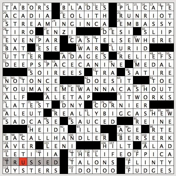 Brit blackjack crossword