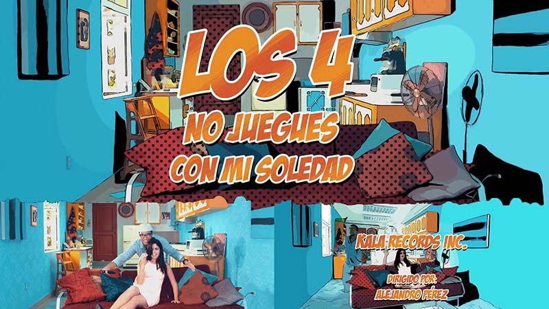Los 4 - ¨No juegues con mi soledad¨ - Videoclip - Dirección: Alejandro Pérez. Portal Del Vídeo Clip Cubano