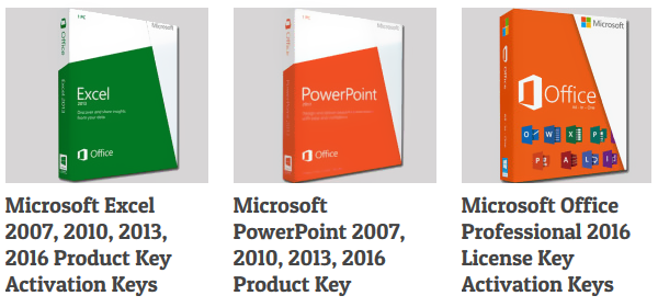 Free Product Keys for Microsoft Office Professional Plus