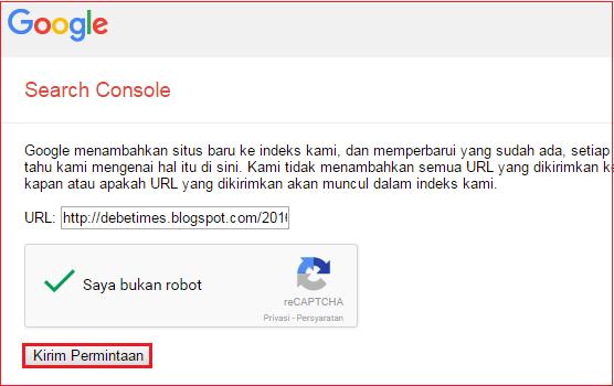 Submit artikel ke Google