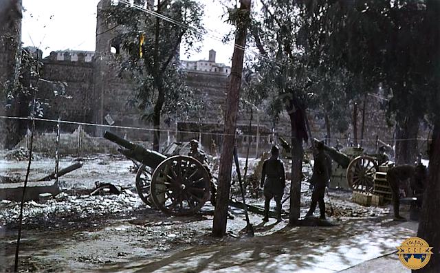 toledo guerra civil artillería