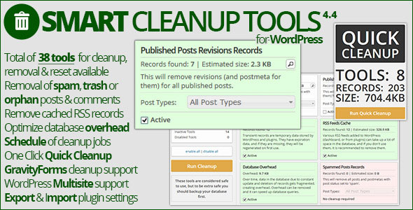 Free Download Smart Cleanup Tools V4.4 Wordpress Plugin