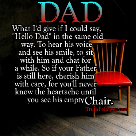 Dads Empty Chair At Christmas