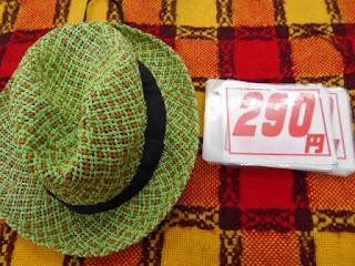 リサイクル品の緑色の麦わら帽子52㎝です。