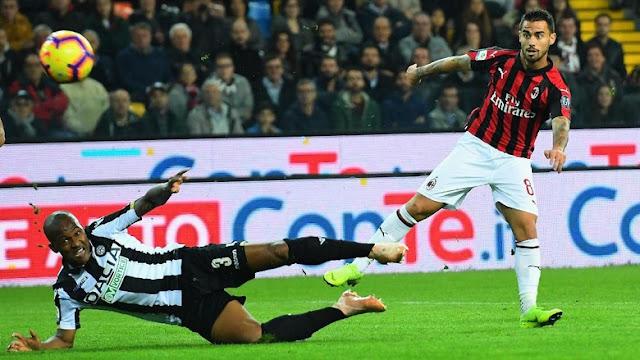 Hasil Udinese vs AC Milan: Penuh Drama di Menit Akhir, Rossoneri Menang 1-0