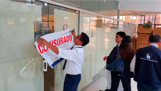 Clausuran dos oficinas de Pay Diamond en Tarija