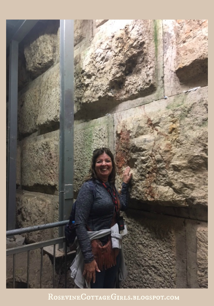 Holy Land - This is me touching the actual stones from the temple underground