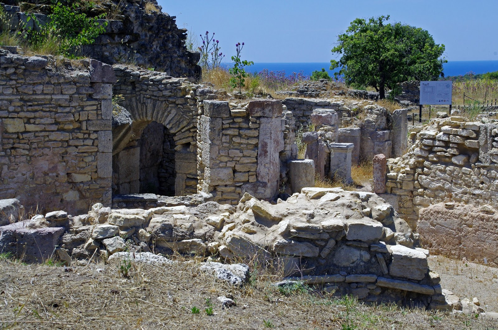 Beautiful ruins and scenery in Alexandria Troas