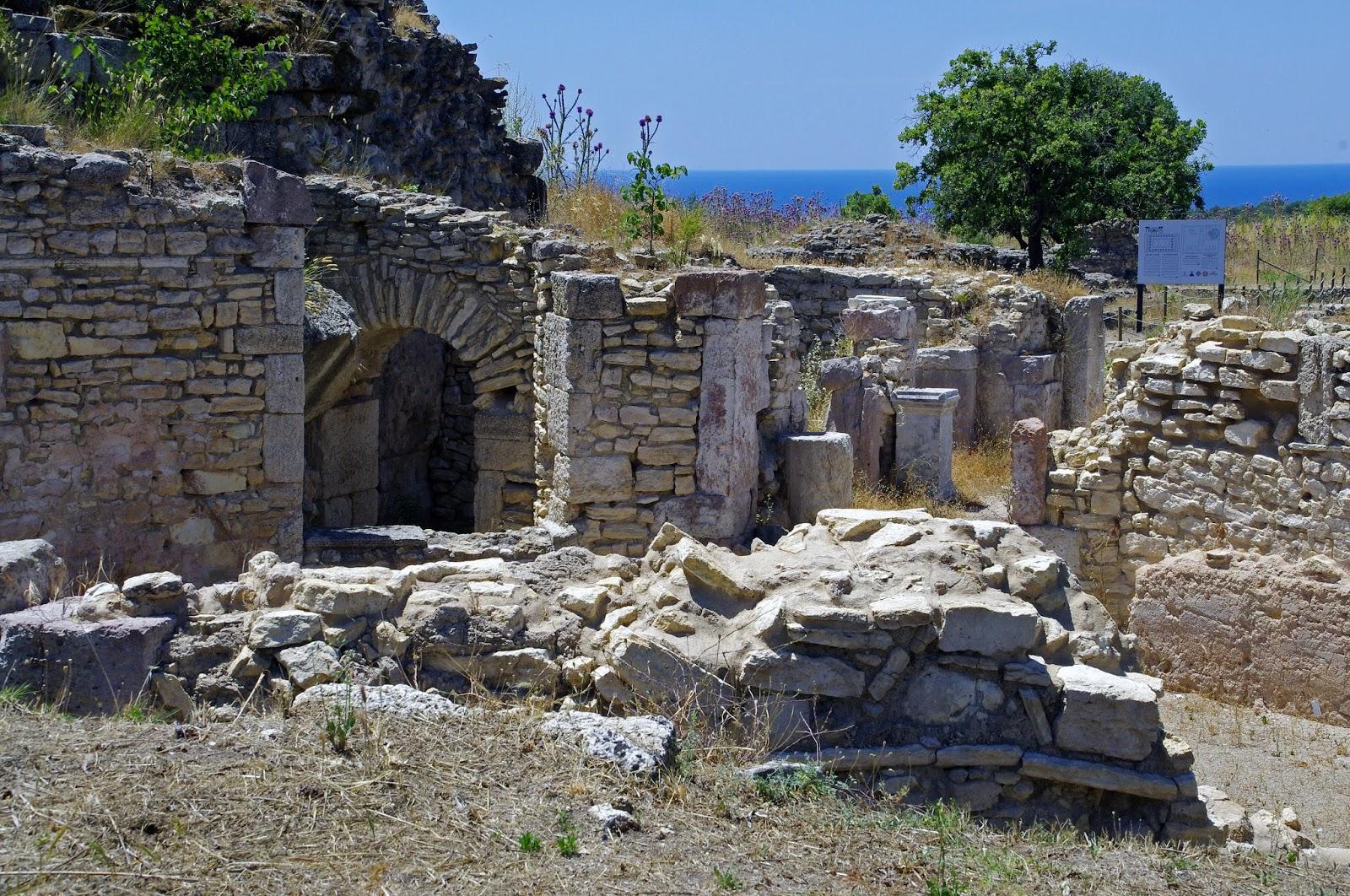 Beautiful ruins and scenery in Alexandria Troas