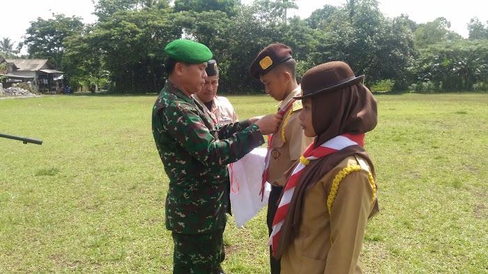Danramil  Membuka Pelatihan Satuan Karya Wirakartika Koramil 0421-03