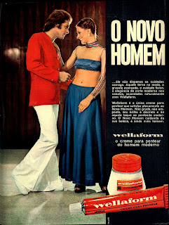 Anúncio creme Wellaform - 1973. moda anos 70; propaganda anos 70; história da década de 70; reclames anos 70; brazil in the 70s; Oswaldo Hernandez