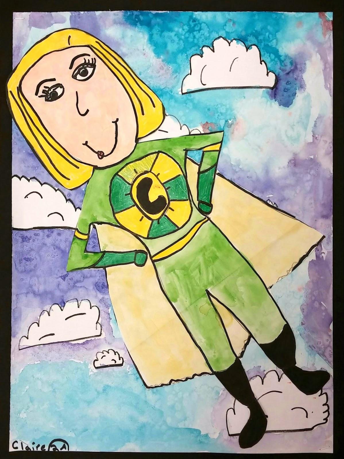 Art With Mrs Seitz Superheroes