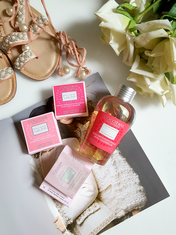 L´OCCITANE - Pivoine Sublime Petal Cleansing Oil & Mini Mask Pods Gesichtsmasken - Madame Keke The Luxury beauty & lifestyle blog